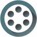 cinema, entertaiment, equipment, film, movie, play, reel icon