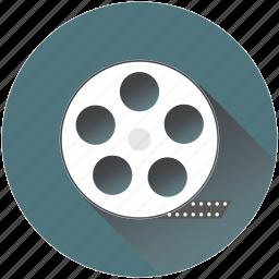 cinema, film, iconfinder, movie, production, recording, reel icon