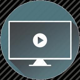 cinema, internet, monitor, movie, play, surveillance icon