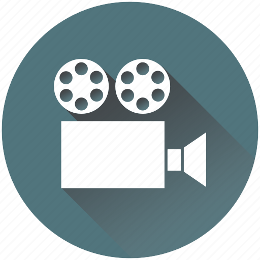 camera, cinema, film, movie, old, play, reel icon