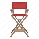 accessories, chair, director, filming, furniture icon