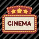 board, cinema, signboard icon