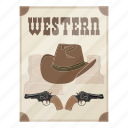 ad, advertisement, film, movie poster, poster, western icon