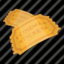 cinema, document, ticket icon