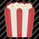 box, food, packaging, popcorn, treat icon