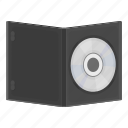 dvd, film, movie, record, video disc icon