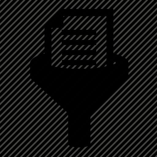analysis, analytics, data filter, document, filter, funnel icon