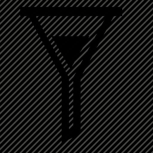 data, filter, funnel, graph, result, sort, storage icon