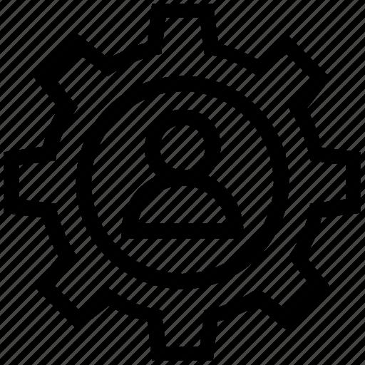 cogwheel, configuration, finance, gear, setting, user icon