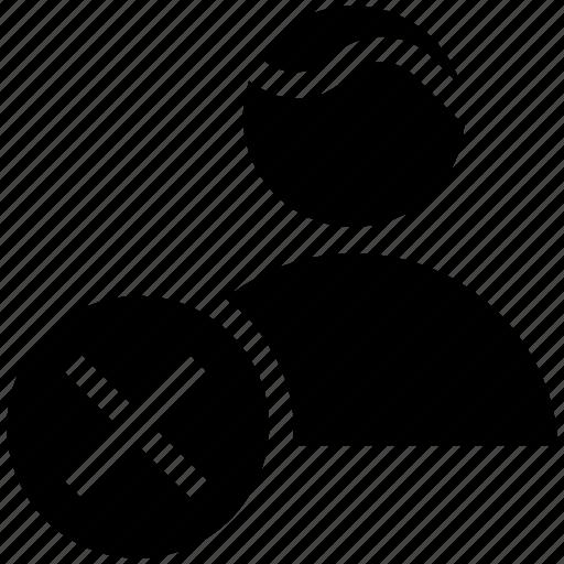 businessman, cross, finance, person, reject, user icon