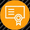 award, business, certification, finance, medal, paper, text
