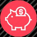 bank, dollar, dollar saving, finance, invest, piggy, piggy bank