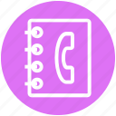 book, business, contact, finance, marketing, phone book icon