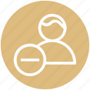 businessman, cross, finance, minus, person, user icon