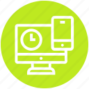 business, clock, finance, lcd, mobile, time icon