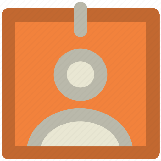 badge, card, id, identification, identity card, male id card icon