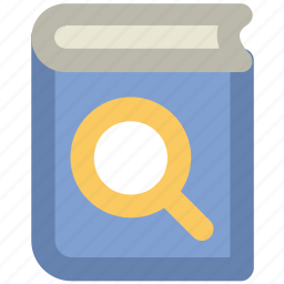 book and magnifier, book with magnifier, online book, search book, search book concept icon