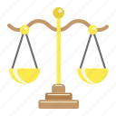 balance, business, finance, judge, law, libra, scale icon