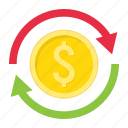 arrow, business, currency, dollar, exchange, finance, transfer icon