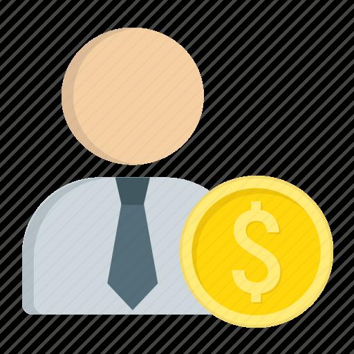 banker, business, businessman, finance, investor, money, person icon