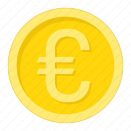 business, coin, currency, euro, finance, gold, money icon
