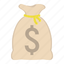 bag, bank, business, dollar, finance, money, save icon