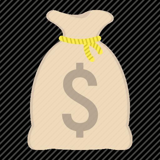 bag, bank, business, dollar, finance, money, save icon