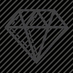 business, diamond, finance, gem, gift, jewel, rich icon