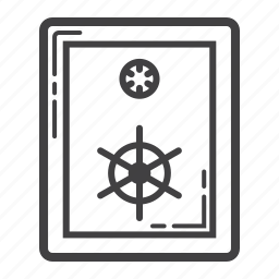 bank, business, deposit, finance, protection, safe, strongbox icon