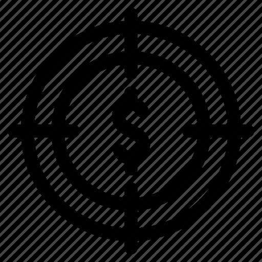 bank, dollar, finance, financial, marketing, money, target icon