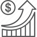 finance, graph, increase, profit, revenue icon