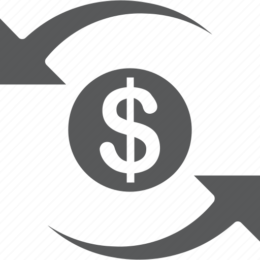coin, currency, exchange, money, transfer icon