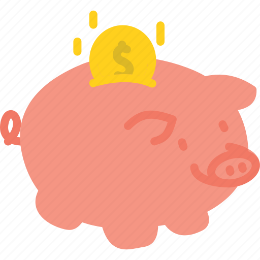 bank, business, piggy icon