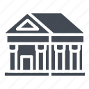 bank, building, business, finance, museum, solid icon
