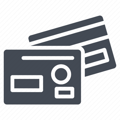 business, card, credit, solid icon