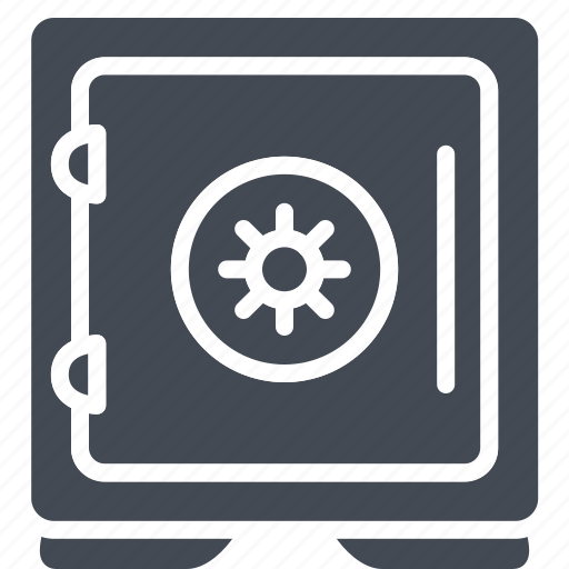 bank, business, safe, solid icon