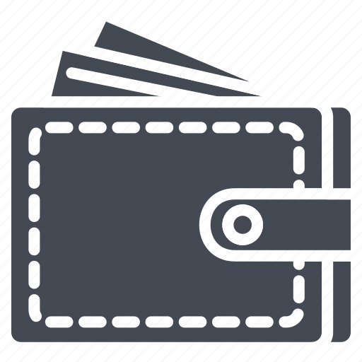 business, card, cash, credit, money, solid, wallet icon