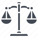 business, law, scale, solid, weights icon