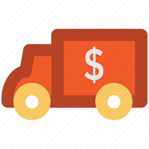 bank van, cash van, transport, van, vehicle icon