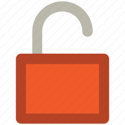 lock, open padlock, password, privacy, protection, security, unlock icon
