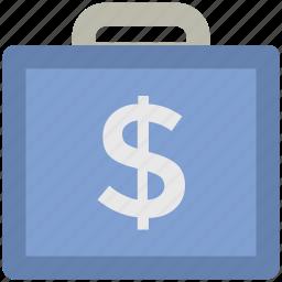 bag, briefcase, business bag, money bag, portfolio, suitcase icon