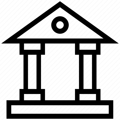 bank, banking, court, courthouse, finance, money icon