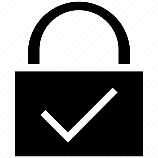 accept, business, finance, lock, protect, safety, security icon