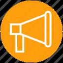 business, finance, investment, marketing, megaphone, speaker icon