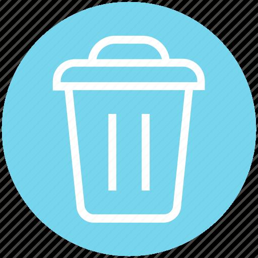 cleaning bin, delete, dust bin, recycle bin, trash, trash bin icon