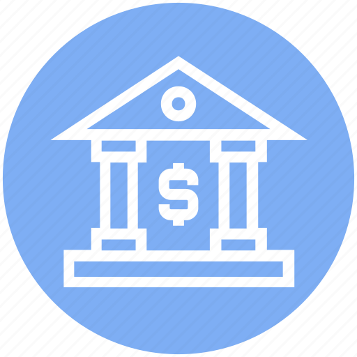 bank, banking, court, courthouse, dollar sign, finance, money icon