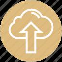 cloud, cloud computing, finance, up arrow, upload, uploading