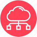 cloud, cloud computing, connection, finance, hosting, networking icon