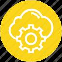 business, cloud, cogwheel, finance, gear, setting, setup