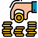 capital, coin, finance, money, venture icon